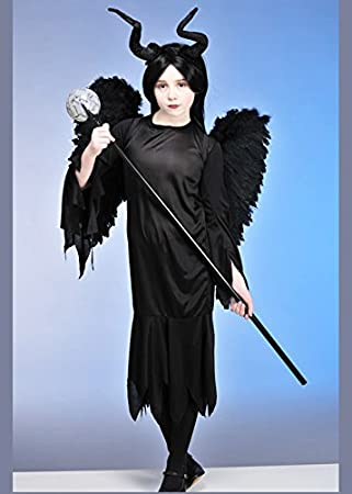 Kids – Disfraz de Maléfica estilo gótico con alas tamaño mediano ...