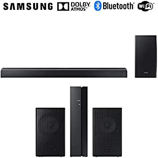 SAMSUNG 370W Virtual 5.1.2-Channel Soundbar System w/Wireless Subwoofer (HWQ80R) SWA-9000S/ZA Surround Sound bar Home Speaker Set of 2