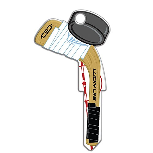 Lucky Line Key Shapes, Hockey, House Key Blank, KW1/11, 1 Key (B130K)