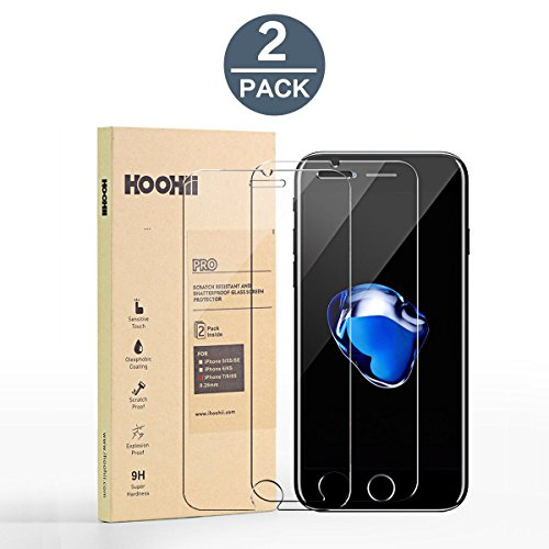 Protector Glass,Tech Armor HOOHIITempered Glass (0.26mm),9H Hardness Bubble Free, Anti-Fingerprint, Oil Stain(2 pack) ()