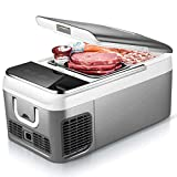 Jiongzhuo Car Compressor Refrigerator Freezer Mini Small Family Car Home Dual-use Refrigerated Ice Dormitories Breast Milk Portable 18L Car Home Dual-use Models 12V-24V (Color : White)