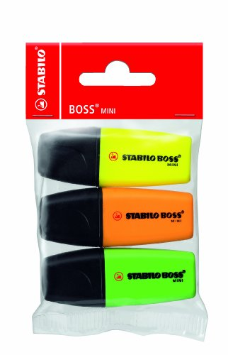 STABILO BOSS MINI 3er Beutel gelb/grün/orange - Textmarker
