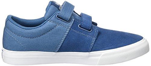 Supra Unisex-Kinder Stacks II Vulc Velcro Sneaker Blau (Slate-White)