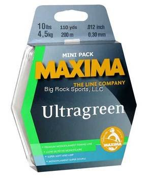 Maxima Fishing Line Mini Pack, Ultragreen, 15-Pound/110-Yard