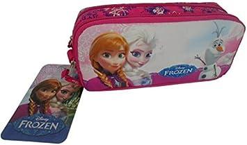 CJB Frozen - Estuche para lápiz o maquillaje. Color rosa, diseño Ana y Elsa: Amazon.es: Juguetes y juegos