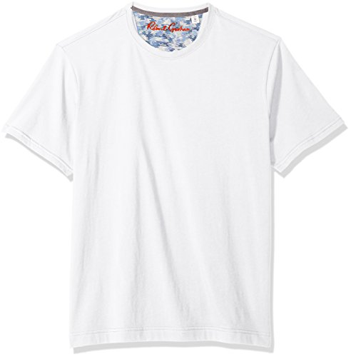(Robert Graham Men's NEO Short Sleeve Crewneck T-Shirt, White)