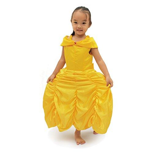 fedio Princess Costume Dress Girls Dress up Dresses for Toddler Kids Yellow (Halloween Costume Ideas For Girls Age 13)