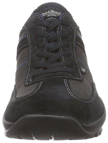 Dockers 36HT004 - zapatilla deportiva de cuero hombre negro - negro