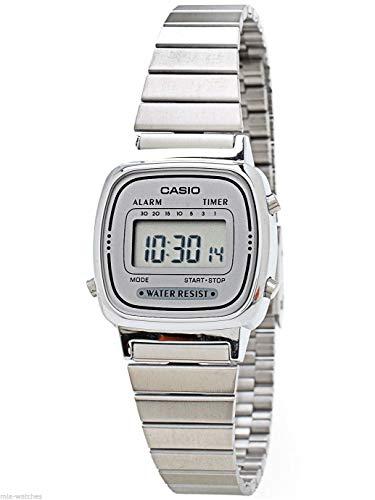 Casio Women's LA670WA-7 Silver Tone Digital Retro Watch ()