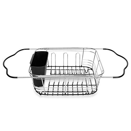 Expandable Dish Rack Drying Utensil Holder 3-in-1 in and Ove