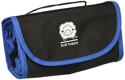 K1C2 Knit Happy Fold-N-Go Notions Box, Black/Blue