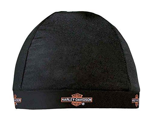Harley-Davidson® Barbed Long Bar & Shield Skull Cap, HC31230. Made of 85% nylon and 15% spandex. HC31230