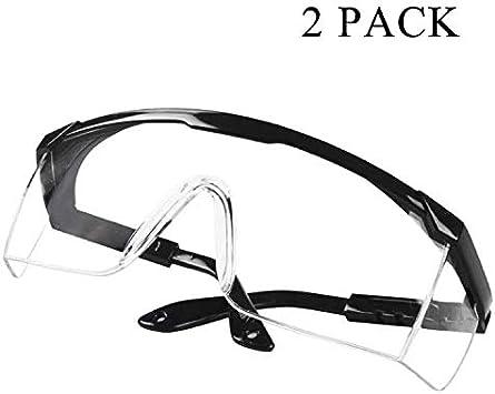 Gafas De Seguridad Contra Virus Gafas Antivaho Antipolvo A Prueba De Viento Gafas Protectoras Transparentes De Visión Amplia Protección Para Los Ojos Gafas Protectoras Contra Virus (2 PCS)