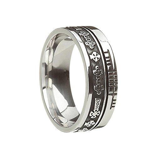 Celtic Symbol Wedding Band Celtic Cross 925 Sterling Silver Size