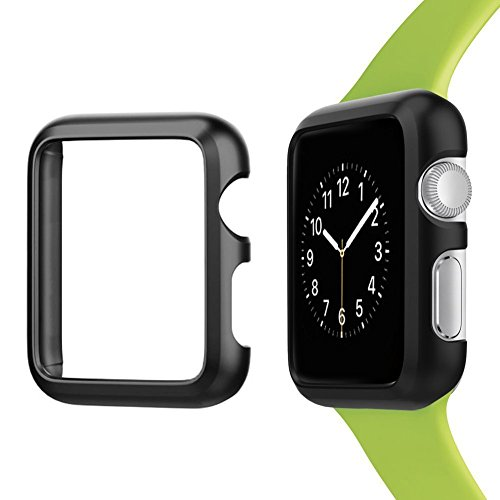 Josi Minea Apple Watch [42mm] Aluminum Protective Shell Bumper Case Cover - Premium Anti-Scratch & Shockproof Shield Guard for Apple Watch Series 3, 2 & 1 - 42mm [ Black ]