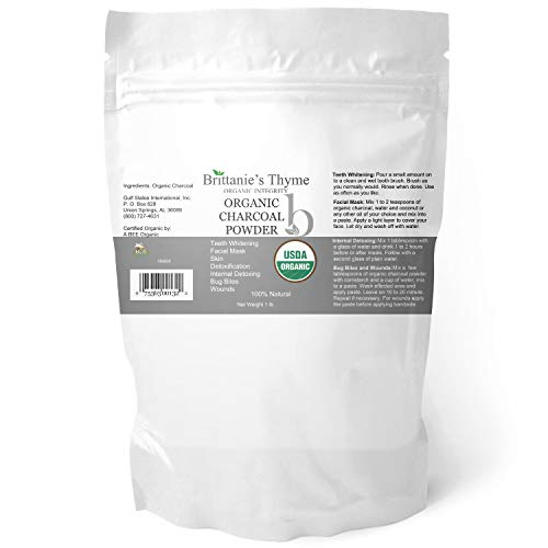 (Organic Charcoal Powder, 1 lb - USDA Certified Organic. Food Grade Powder, Non-GMO, Vegan, No Fillers 100% Pure Use for teeth Whitening Facial Masks Detoxing )