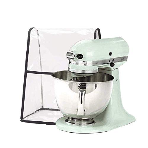 Clear Kitchen Mixer Cover, Stand Mixer with Front Pocket for Accessories, Kitchen & Dining Small Appliance Parts Cover…