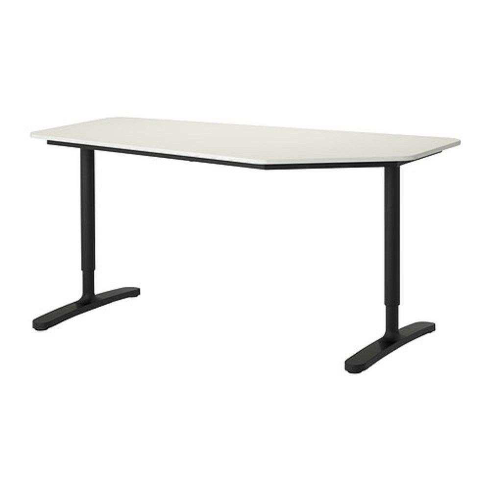 IKEA/イケア BEKANTベカント:デスク 5角形160×80㎝(ホワイト/ブラック)39006379 B0173A5QLW