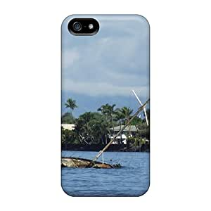 Special Ajephke Skin Case Cover For Iphone 5/5s, Popular Shipwreck At Lahaina Phone Case