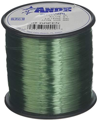 Ande A14-20G Premium Mono Line, 1/4-Pound Spool, 20-Pound, 600-Yards Green