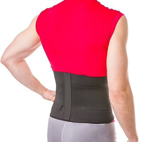 BraceAbility Elastic & Neoprene Compression Back Brace | Lumbar, Waist and Hip Support Belt for Sciatica Nerve Pain, Low Back Ache & Pain Relief while Sleeping, Working, Exercising, Walking (Small) - Ace Belt