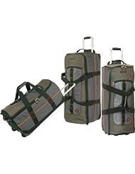 Timberland Luggage Jay Peak 3 Piece Duffle Set, Burnt Olive, One Size