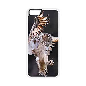 Qxhu Owl Hard Plastic Cover Case for Iphone6 4.7""