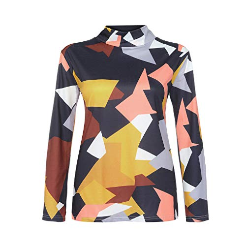 Price comparison product image Women Plus Size Patchwork Tops Long Sleeve O-neck Shirt Pullover Blouse