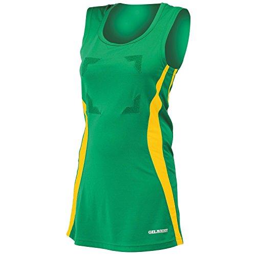 Netball Gold Rundhalsausschnitt Gilbert mit Eclipse Sportkleid Kleid Damen Schwarz 1wxqSnxa8
