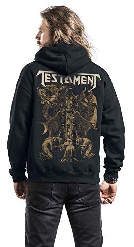 Testament Brotherhood of the snake Sweat à capuche zippé noir XXL