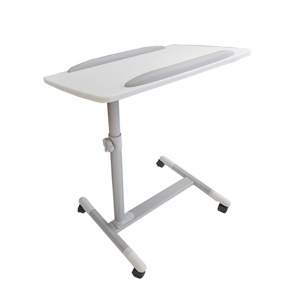 Table QIN WNQ La Parte Superior De La Mesa Se Puede Rotar En Cualquier ángulo A La Mesa De Cómputo De Altura Ajustable A+ (Color : Blanco)