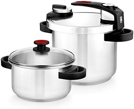 BRA Tekna - Set de ollas a presión rápida, 4 y 7 litros de fácil ...