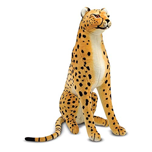 Melissa & Doug Giant Cheetah - Lifelike Stuffed Animal, The Original (Nearly 3 Feet Tall, Great Gift for Girls and Boys - Best for 3, 4, 5, and 6 Year Olds)