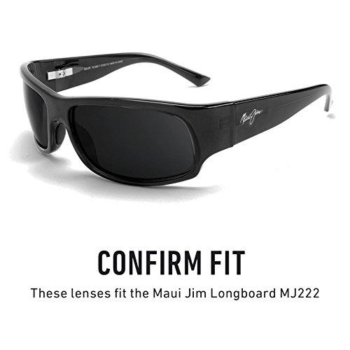 MJ222 repuesto de Jim Lentes para Polarizados Longboard Hielo múltiples Opciones Mirrorshield — Azul Maui HAUqYUx6