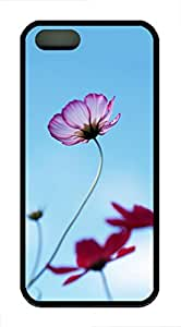 iPhone 5 Case, iPhone 5S Cases - Non-Slip Protective Soft Case Cover for iPhone 5/5s Strange Daisy Scratch-Resistant Black Rubber Back Case Bumper for iPhone 5/5S