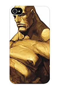 Downturnvver New Arrival Iphone 4/4s Case Sagat Artwork Street Fighter Iii Case Cover/ Perfect Design