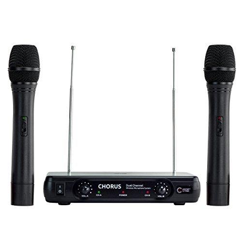 CenterStage Chorus Dual Wireless Handheld Microphone System- Easy Setup- Karaoke Performance Presentation [並行輸入品] B076YYS4TJ