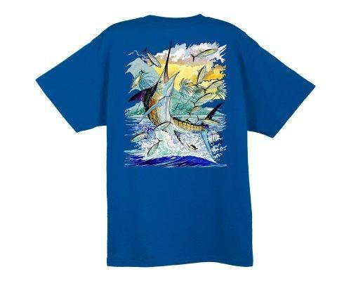 Guy Harvey Island Marlin T-Shirt - Ocean Blue - Large