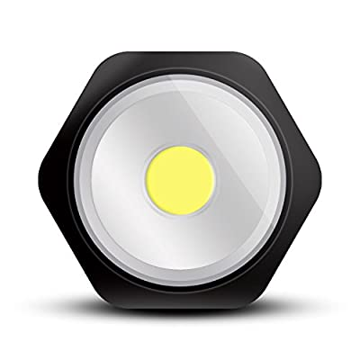 PowerFirefly 250 Lumens COB LED Rotating Work Light With Strong Magnetic Base, Ultra Bright LED Flashlight, Inspection light for Car and Truck Repair, Home Using and Emergency