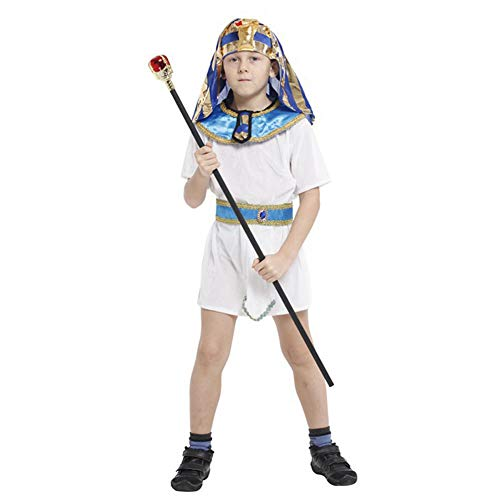 LOLANTA Boys Egyptian Prince Costume Kids Pharaoh Halloween Cosplay Fancy Dress (8-9 Years) ()