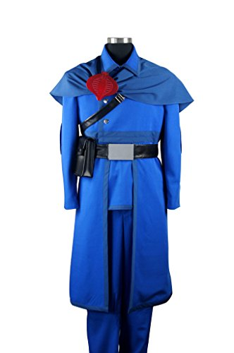 Mtxc Men's G.I.Joe:The Rise of Cobra Cosplay Cobra Commander Uniform Size Medium Blue -