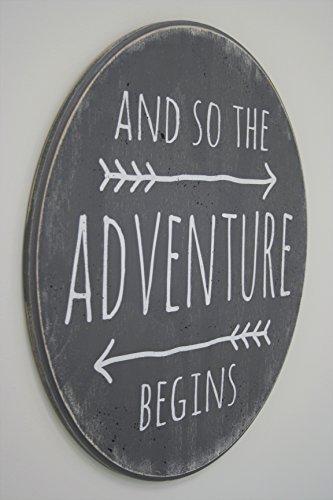 - Wood Sign Boys Nursery Wall Decor Gray Nursery Sign And So The Adventure Begins Sign Tribal Nursery Decor