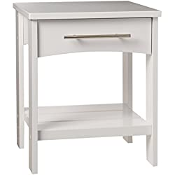 KidKraft Addison Twin Side Table, White