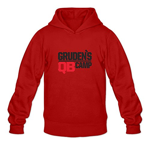 Gruden Camp Cool O-Neck Red Long Sleeve Sweatshirts For Guys Size S
