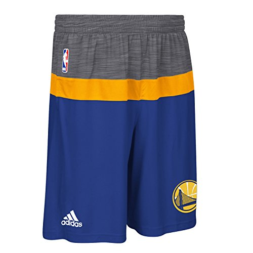 (Golden State Warriors Blue On-Court Pre-Game Performance Basketball Shorts Large)