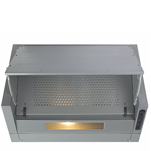 CDA EIN60 60cm Integrated Cooker Hood Extractor in Silver/Grey EIN60SI