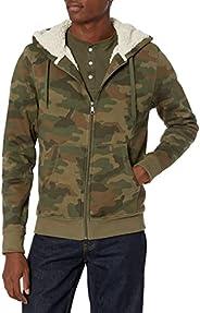 Amazon Essentials Mens Sherpa Lined Full-Zip Hooded Fleece Sweatshirt