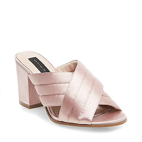 STEVEN by Steve Madden Women's Zada Mule, Blush Satin, 6 M US