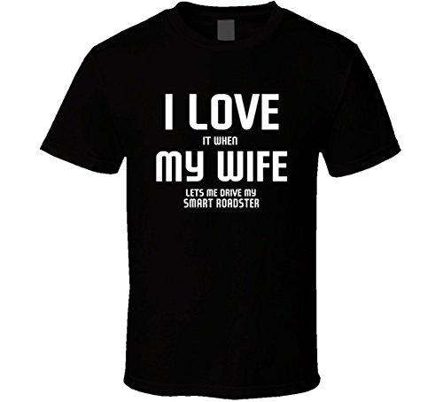 fe Lets Me Drive My Smart Roadster Funny Car T Shirt L Black ()
