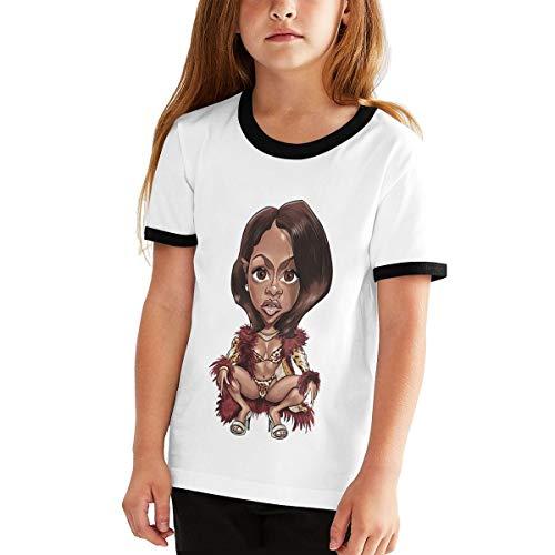 XINPULONG Lil-Kim Shirt Youth Shirt (Unisex) Casual Short Sleeve Shirt Black